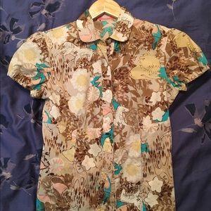 BluMarine Cotton Short Sleeve Dress Shirt Small
